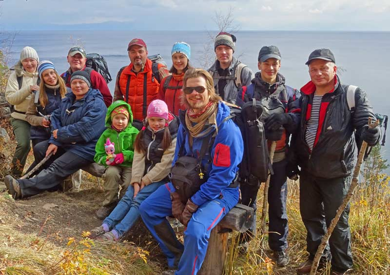 MIR's Siberia crew and their families camp and hike the Great Baikal Trail. Photo credit: Vladimir Kvashnin