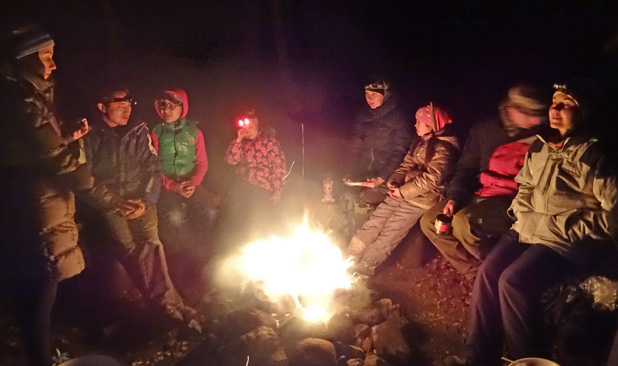 Universal, and timeless: gathering 'round a Siberian campfire. Photo credit: Vladimir Kvashnin