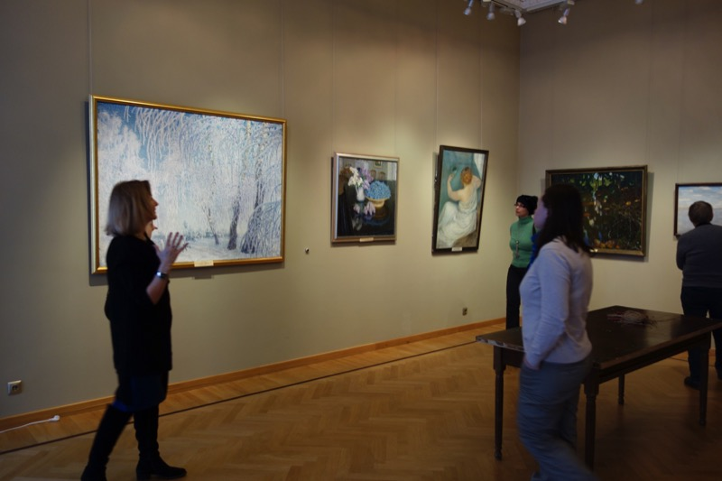 Inside the Yaroslavl Art Museum. Photo credit: John Seckel