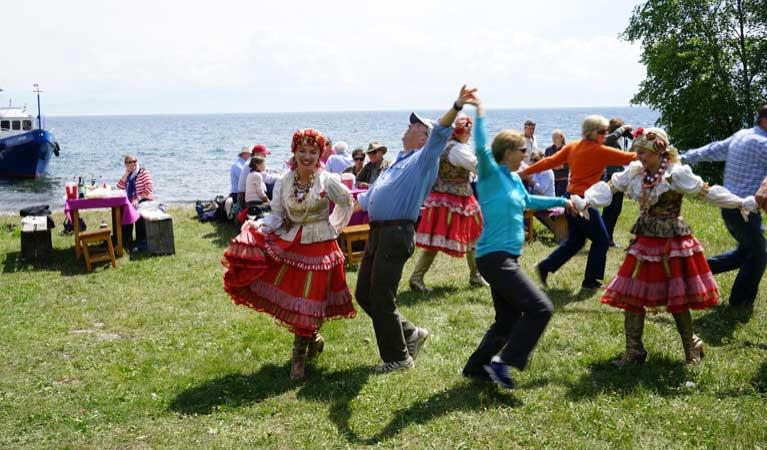Celebration on the shores of Lake Baikal, Siberia, Russia. Photo credit: Vladimir Kvashnin