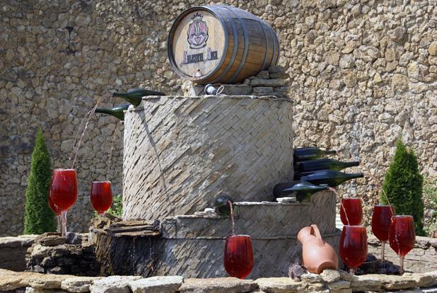Milestii Mici Winery's wine fountain (Moldova.) Photo credit: Joanna Millick