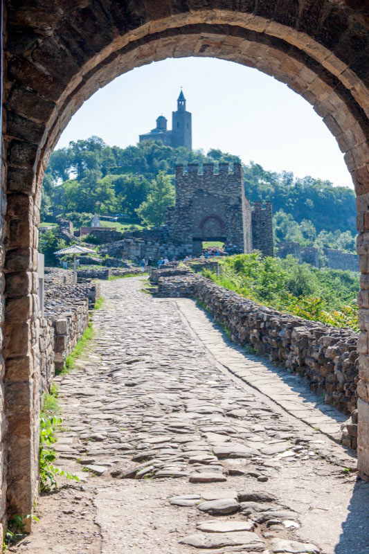 Entrance to the Royal Fortress on Tsaravets Hill in Veliko Tarnovo, Bulgaria. Photo credit: David W. Allen
