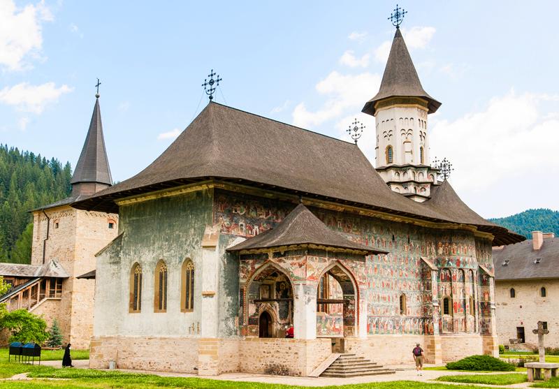 Moldovita Monastery, Bucovina, Romania. Photo credit: David W Allen