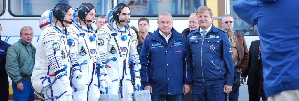 Ready for the Soyuz launch. Photo credit: Douglas Grimes