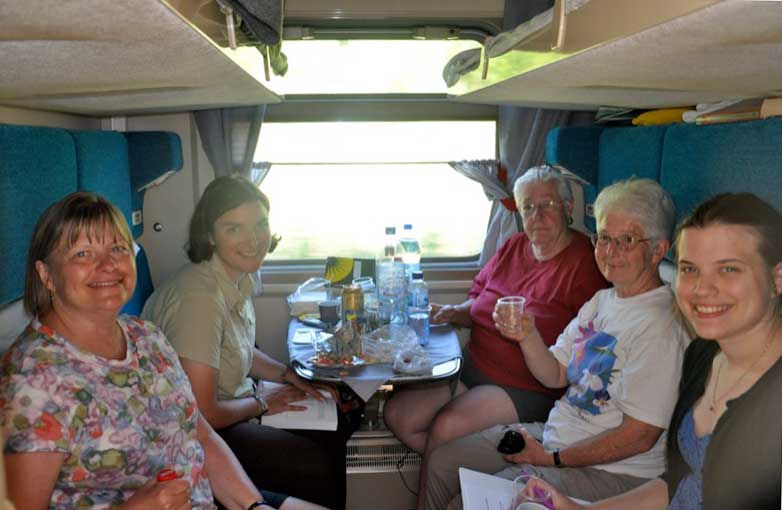 Making friends with fellow travelers and with locals when traveling by train. Photo credit: Meaghan Samuels