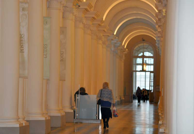 Head to the ground floor of the museum to take a well-deserved rest during your Hermitage exploration. Photo credit: Liz Tollefson