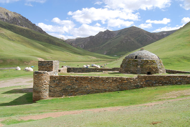 The inn of the Silk Road: 15th century caravanserai of Tash Rabat, Kyrgyzstan. Photo credit: Douglas Grimes