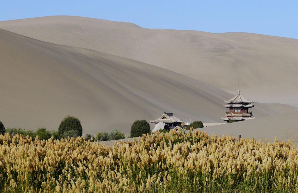 Dunes around Crescent Moon Lake near Dunhuang, China. Photo credit: Martin Klimenta