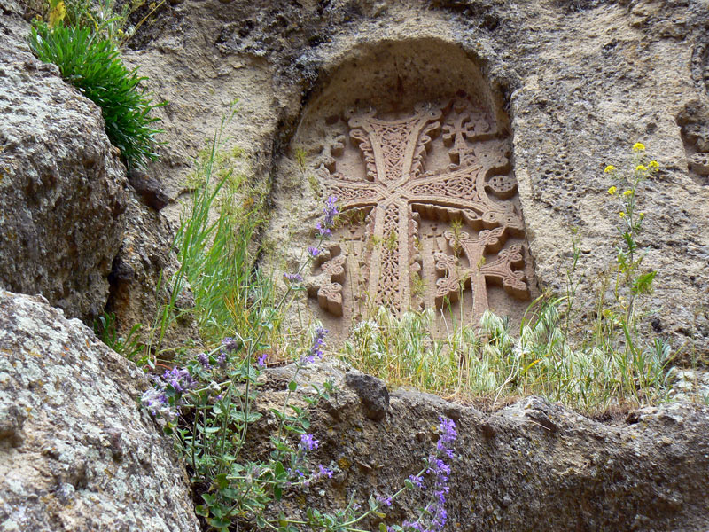 An Armenian khachkar, an intricately carved stone cross and a beloved national art form. Photo credit: Martin Klimenta