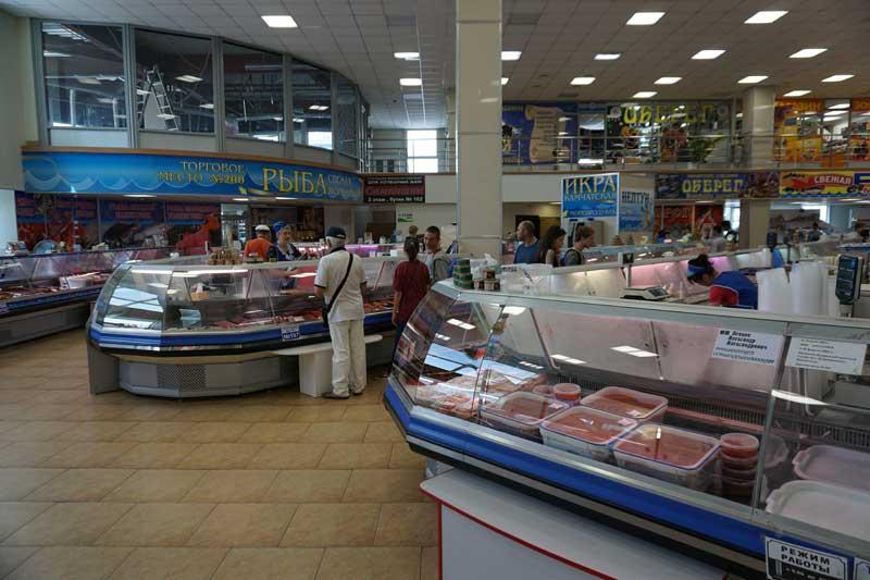 Fish Market in Petropavlovsk Kamchatsky. Photo credit: Jake Smith