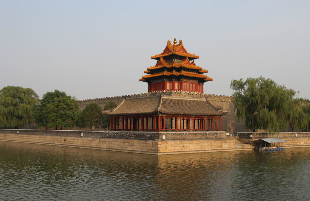 Corner Tower of the Forbidden City in Beijing, China. Photo credit: Jake Smith