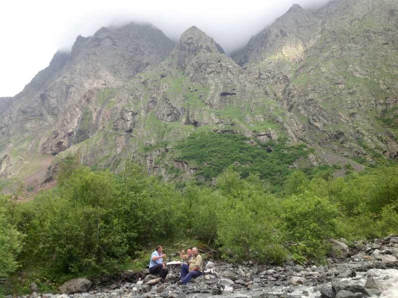 A toast to the North Caucasus in North Ossetia. Photo credit: Michel Behar