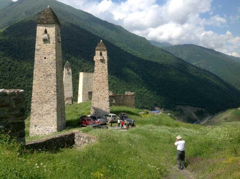 Medieval watchtowers of Ingushetia, North Caucasus. Photo credit: Michel Behar