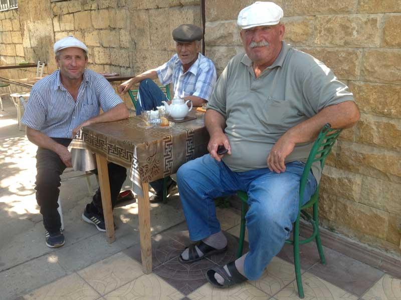 Tea and sweets in Derbent. Photo credit: Michel Behar