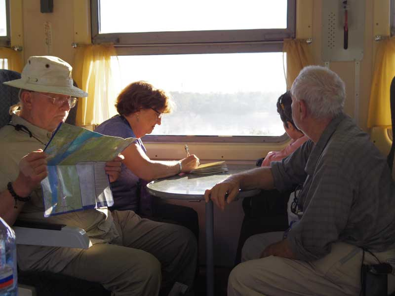 Spending time in the Dining Car aboard a regularly scheduled Russian Railways train. Photo credit: Devin Connolly