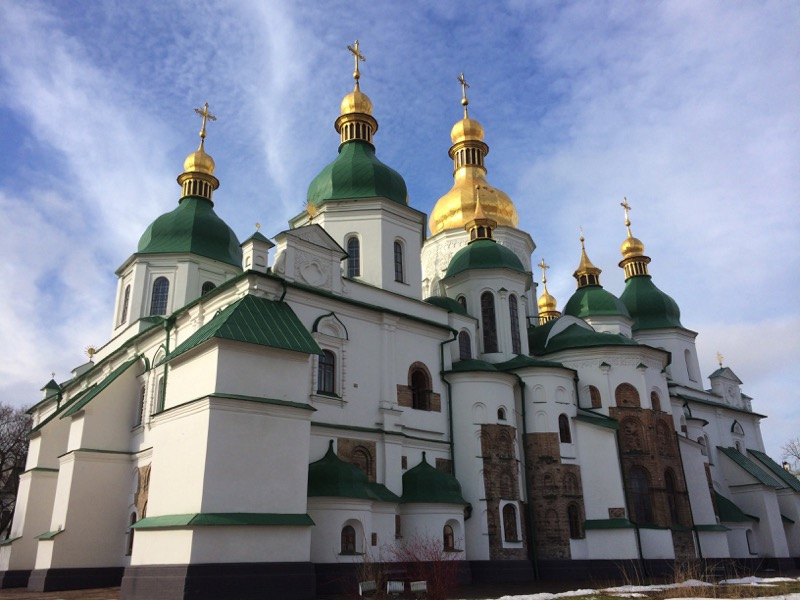 Kiev's St. Sophia's Cathedral shines on a beautiful day. Photo credit: Jessica Clark