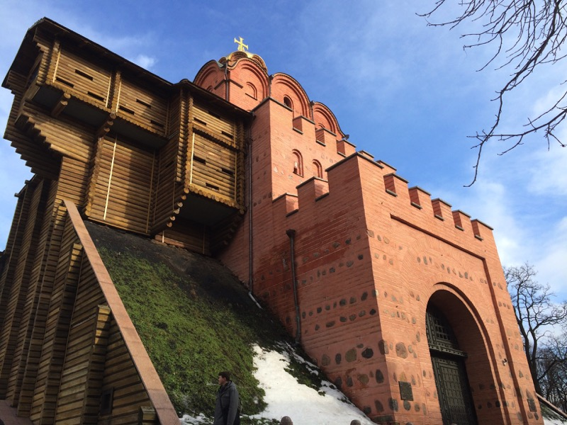 The Golden Gate (Zoloti Vorota) is one of the only remaining city gates of ancient Kiev. Photo credit: Jessica Clark