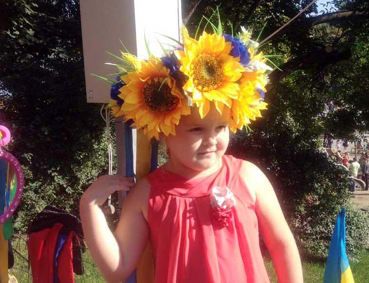 A wreath (venki) woven from sunflowers. Photo credit: Luba Rudenko