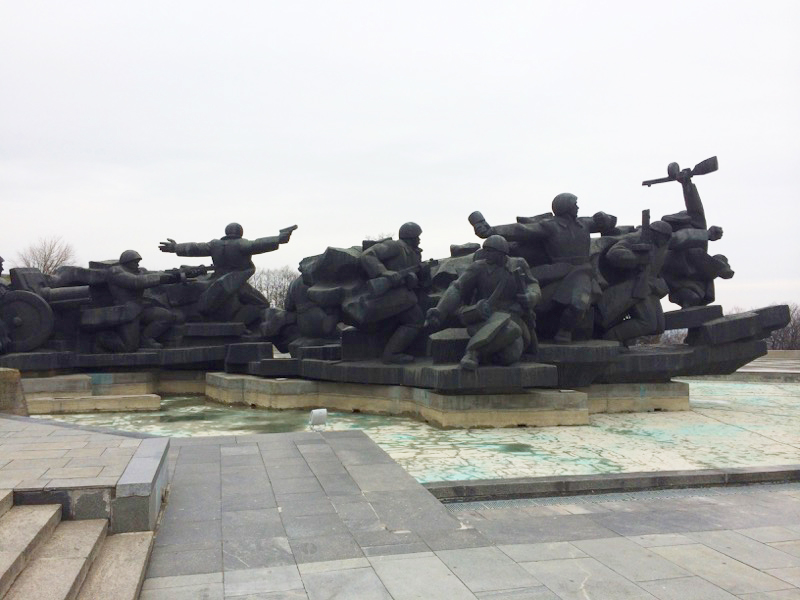 "Kiev's ""Crossing of the Dnipro"" Monument is dedicated to those who fought and died during the 1943 Battle of the Dnipro, which reclaimed the city from German forces. Photo credit: Jessica Clark"