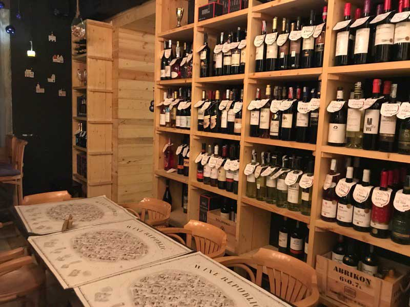 Armenian wine on full display in a Yerevan wine shop. Photo credit: Jessica Clark
