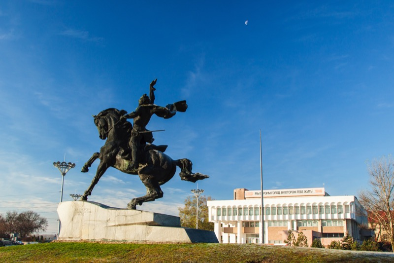 Tiraspol's statue of Russian military leader Alexander Suvorov, who founded the city in 1792. Photo credit: Dima Radu.