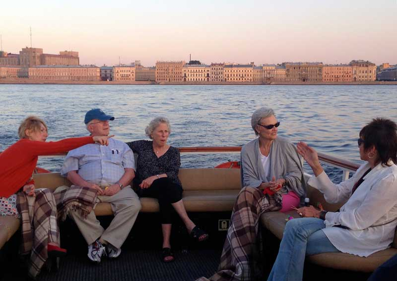 Enjoy the breeze and the beauty on a cruise of the Neva River and St. Petersburg's famous canals. Photo credit: Alfiya Izmailova