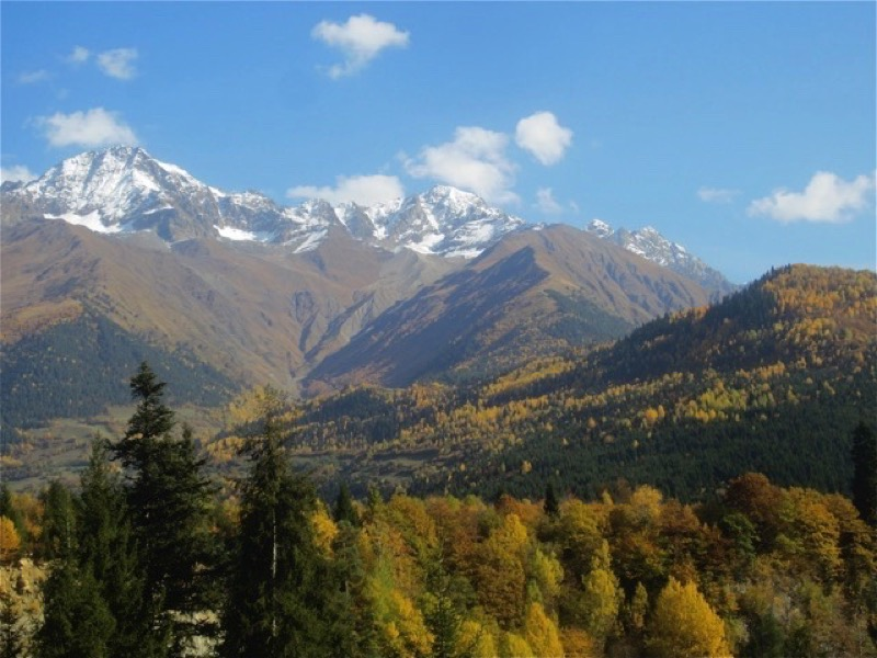 For centuries, poets and writers have been inspired by the raw beauty of Georgia's Greater Caucasus Mountains. Photo credit: Norman Leaper
