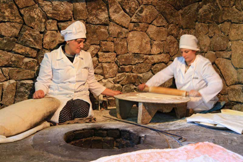 Making lavash, Armenian flatbread. Photo credit: Ann Schneider