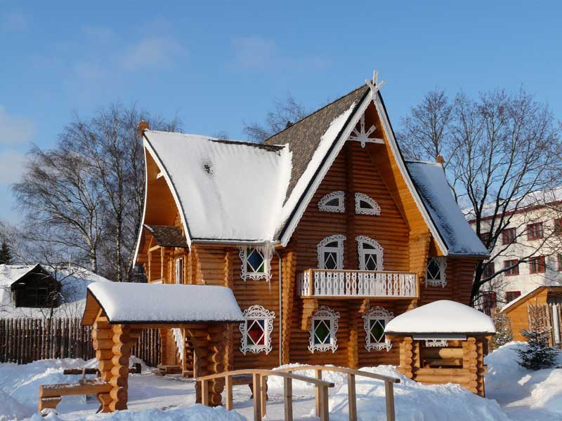 A snowy visit to the Hotel Snegurochka