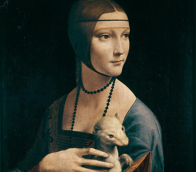 Leonardo da Vinci's famed Lady with an Ermine is displayed in the Czartoryski Museum in Krakow. Photo courtesy: Muzeum Narodowe w Krakowie
