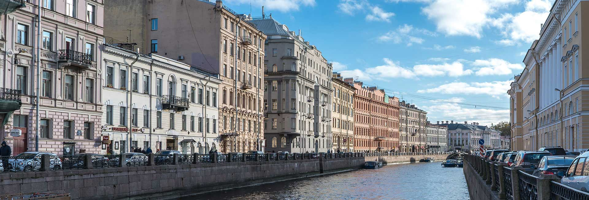 Moika river in St. Petersburg, Russia. Photo credit: Jered Gorman