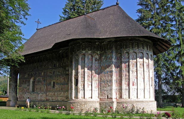 Built in 1530, Humor Monastery is located near the Humor River in Bucovina. Photo credit: Martin Klimenta