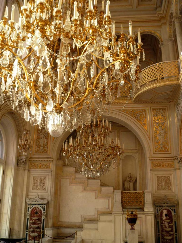 Gold and marble decadently decorate the arched gallery of Pavilion Hall. Photo credit: Liz Tollefson