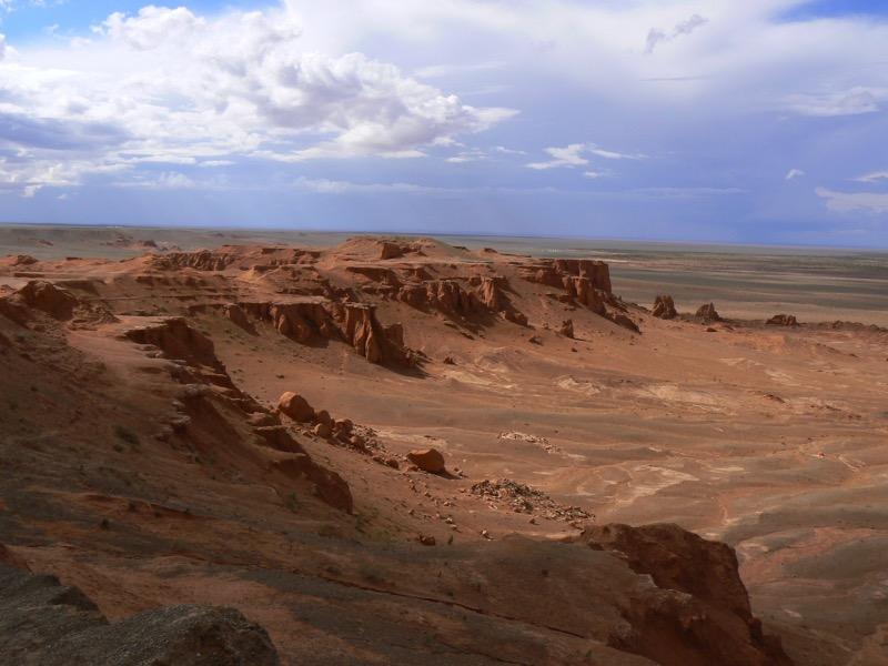 The Flaming Cliffs in Mongolia's Gobi Desert. Photo credit: Martin Klimenta