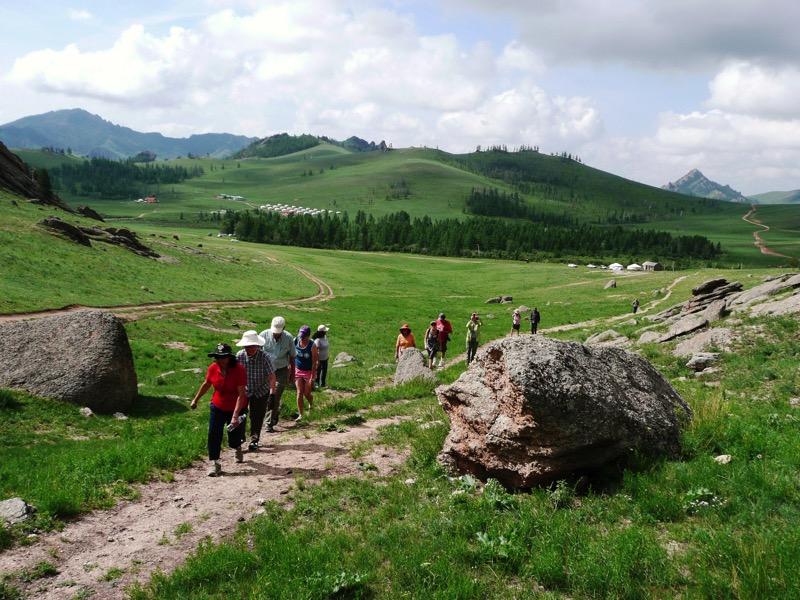 Hiking through Gorkhi-Terelj National Park. Photo credit: Jamshid Fayzullaev