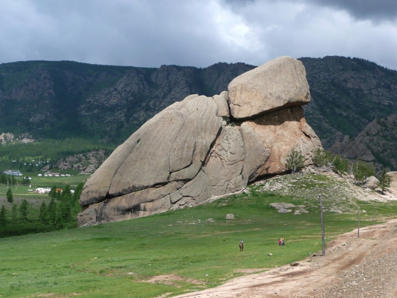 Sacred Turtle Rock in Gorkhi-Terelj National Park. Photo credit: Jamshid Fayzullaev