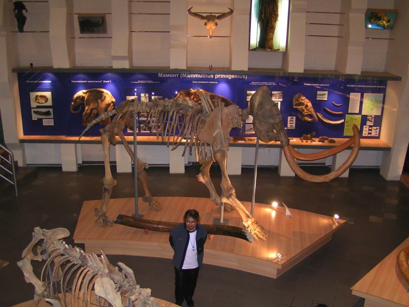 Knowledgeable guide at the Mammoth Museum (Yakutsk)
