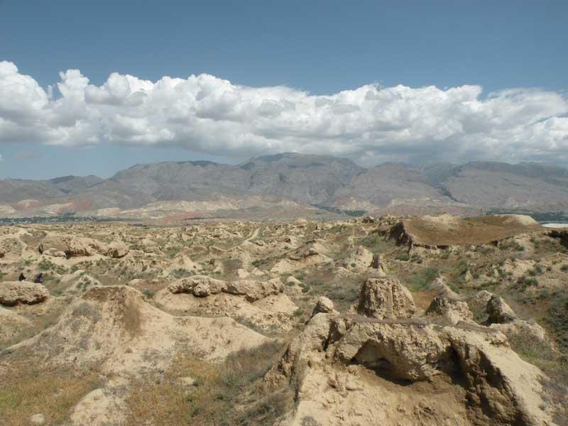 The view for miles in Penjikent, Tajikistan. Photo credit: Jake Smith