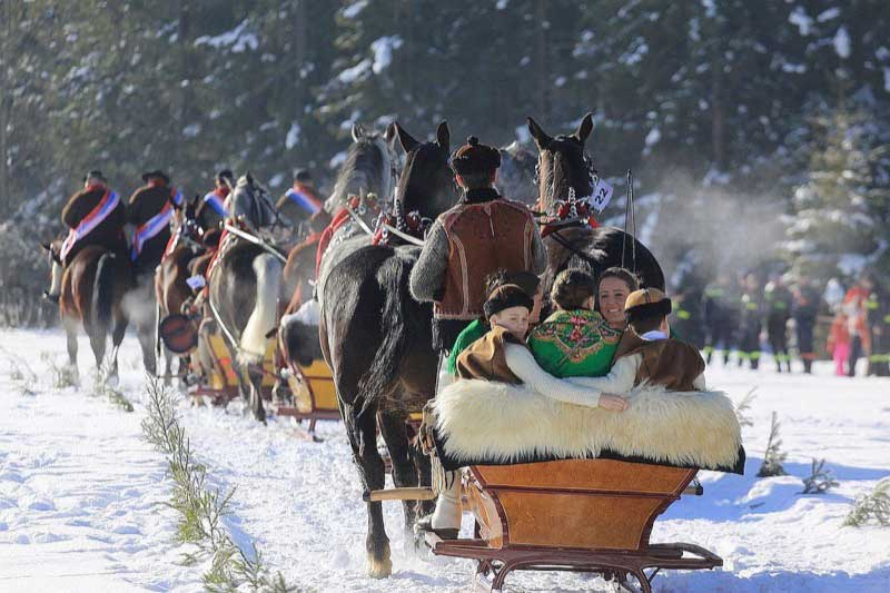 A sleigh ride through the Tatra Mountains in Poland. Photo credit: Polish National Tourist Board