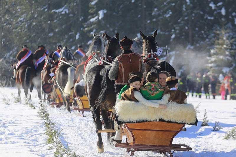 A sleigh ride through the Tatra Mountains in Poland. Photo credit: Polish National Tourist Board