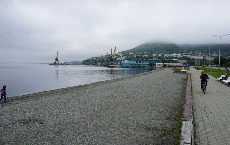 Petropavlovsk waterfront, Kamchatka. Photo credit: Jake Smith