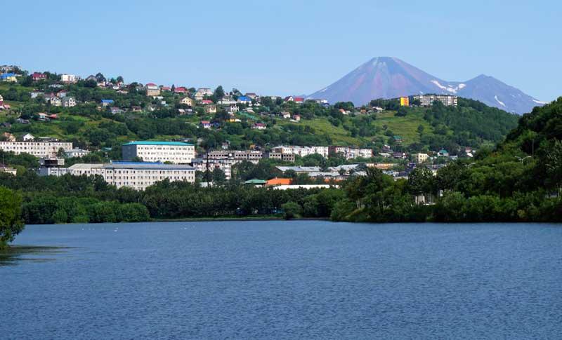 Petropavlovsk Kamchatsky, Kamchatka, from Avacha Bay. Photo credit: Jake Smith