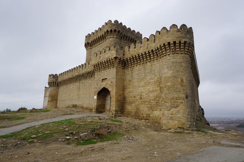There were once more than 30 fortresses dotting the Absheron Peninsula, but the tower at Ramana is the most impressive (Azerbaijan). Photo credit: Jake Smith
