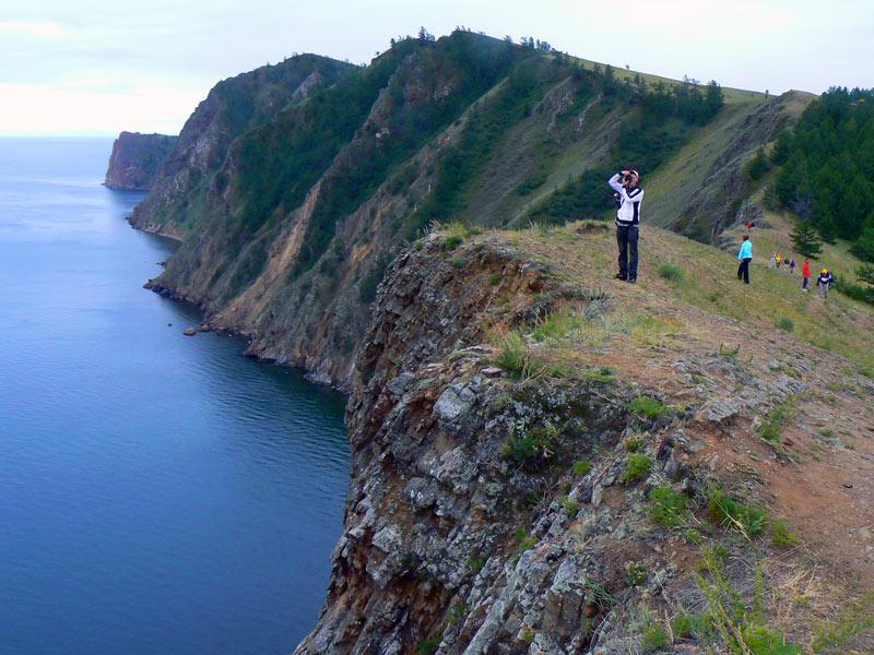 Photographing Lake Baikal, Russia. Photo credit: Martin Klimenta