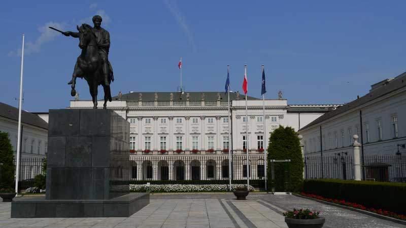 The Presidential Palace in Warsaw, Poland. Photo credit: Martin Klimenta