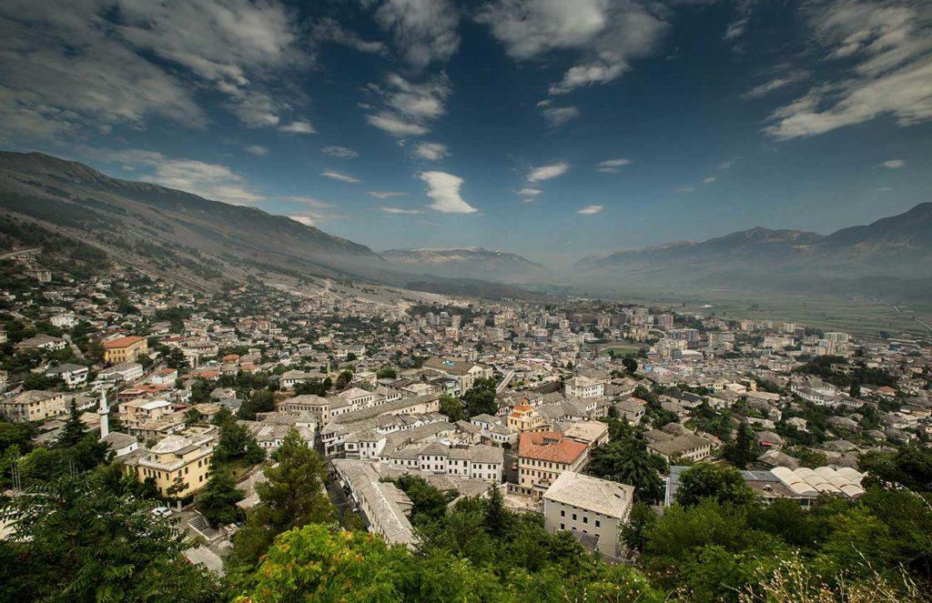 Panoramic view of Gjirokastra city in Albania.  Photo credit: Albanian National Tourism Agency