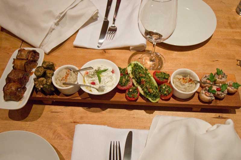 A tasting of Armenian appetizers. Photo credit: Richard Fejfar