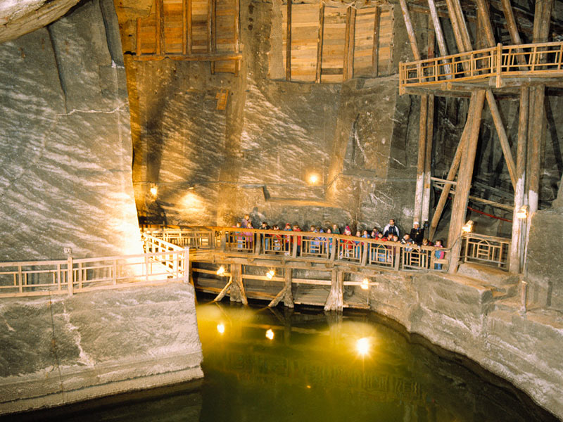 An underground lake at Wieliczka Salt Mine. Photo credit: Polish National Tourist Board