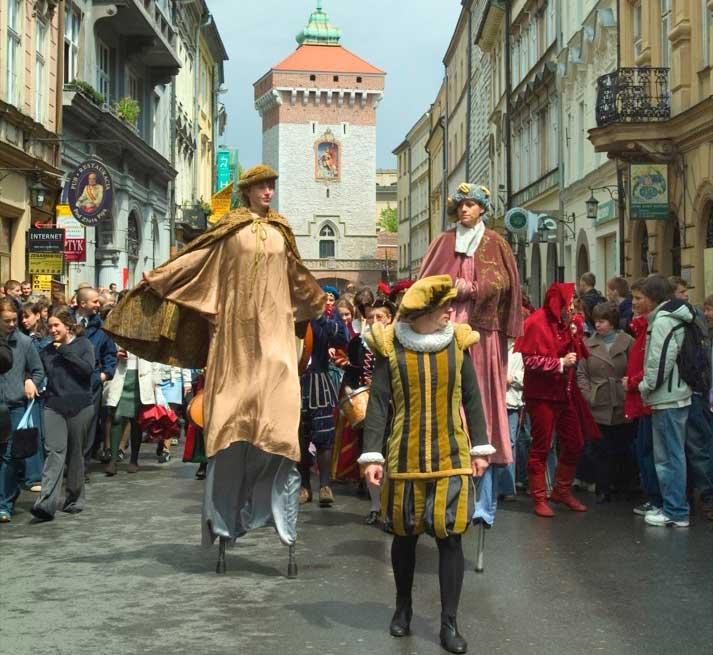 A popular historical procession in Krakow. Photo credit: Janusz Lesniak / Polish National Tourist Board