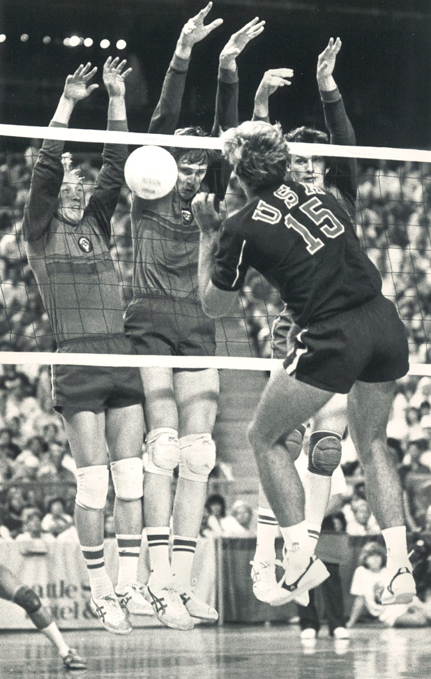 Seattle's 1985 U.S.-Soviet volleyball match-up drew record crowds at the Kingdome. Photo credit: Steve Richmond